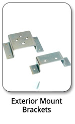 Exterior Mount Brackets, Exterior Mounting Brackets