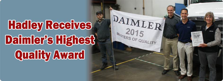 Hadley receives Daimler's Master of Quality Award